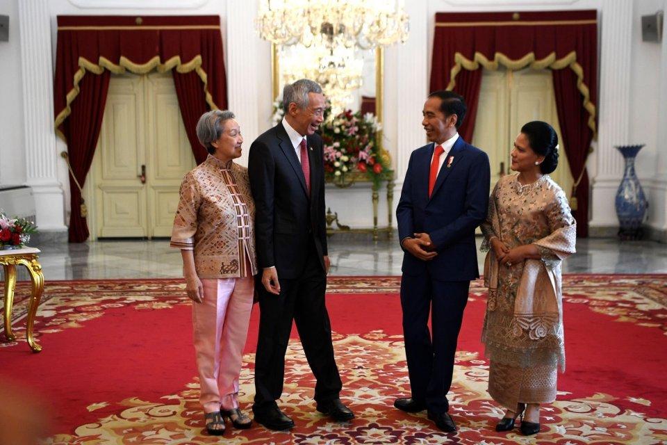 Presiden Jokowi menerima lima tamu negara sebelum pelantikan