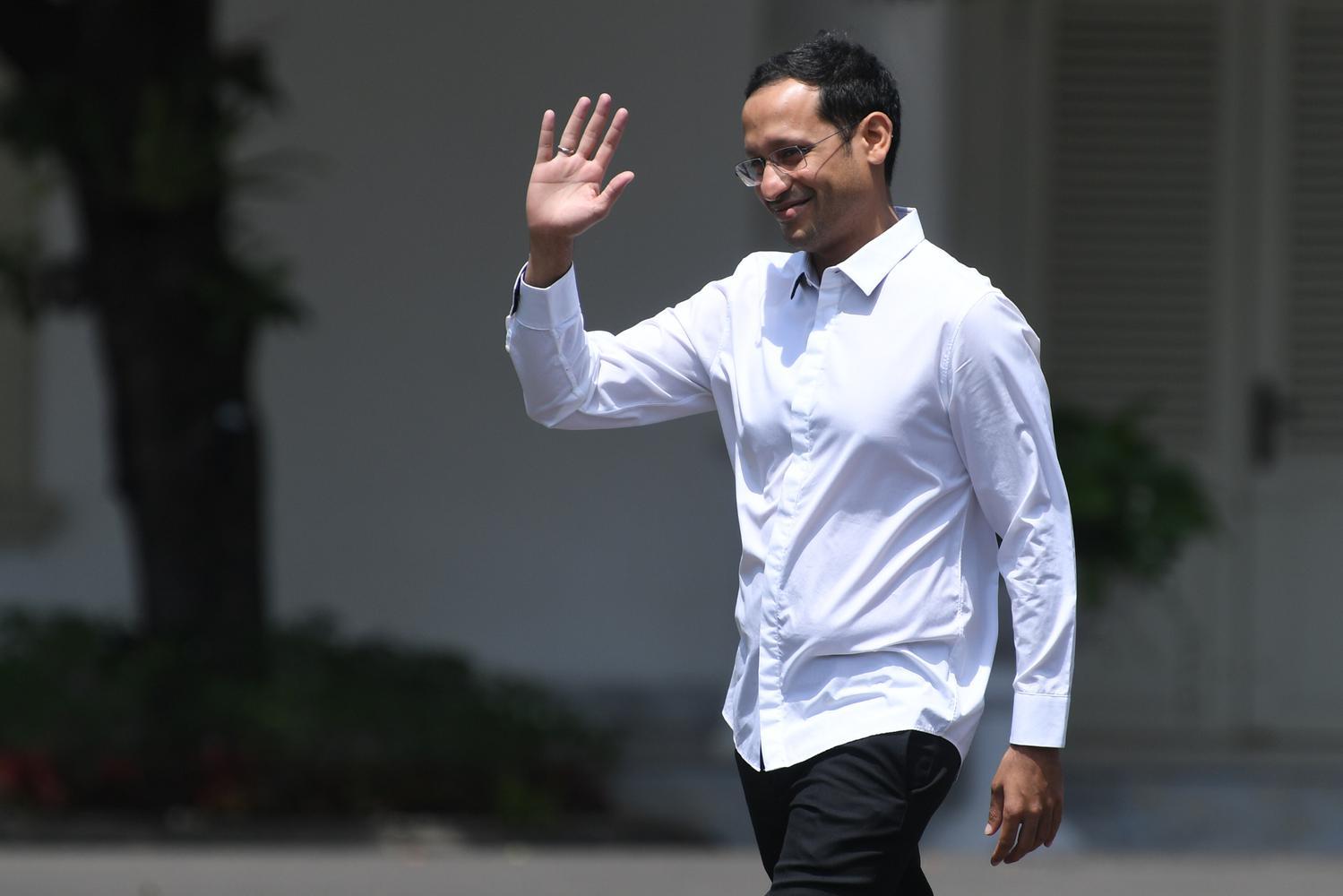 Nadiem Makarim Datang Ke Istana Kepresidenan
