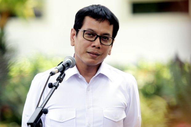 Komisaris Utama NET Mediatama Televisi, Wishnutama Kusubandio mendatangi Kompleks Istana Kepresidenan, Jakarta, Senin (21/10/2019). Menurut rencana Presiden Joko Widodo akan memperkenalkan jajaran kabinet barunya kepada publik hari ini usai dilantik Mingg
