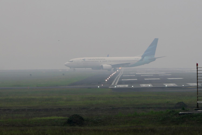 Kabut Asap Di Bandara Aceh
