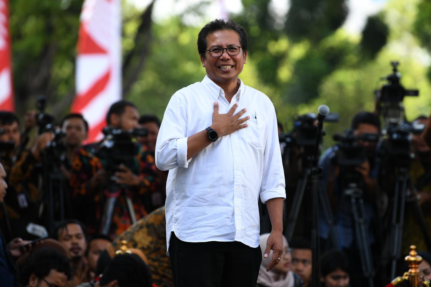 Fadjroel Rachman Datang Ke Istana Kepresidenan