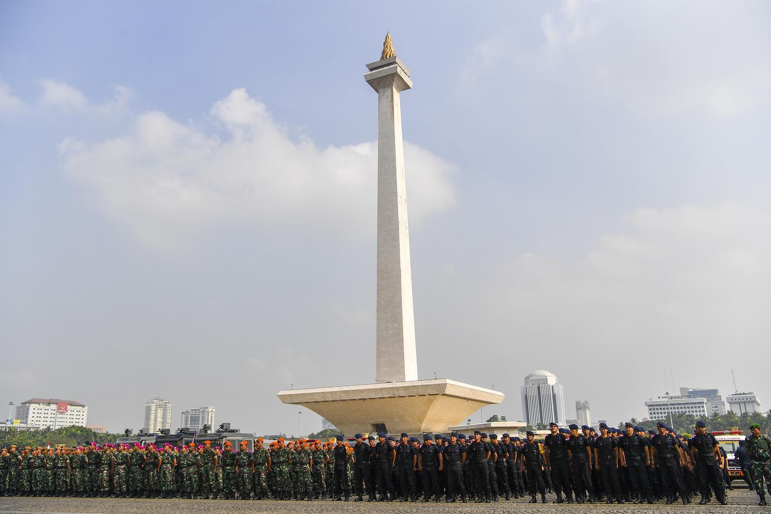 ilustrasi Monas. Dua naggota TNI menjadi korban ledakan granat asap di sekitar Monas, Selasa (3/12) pagi.