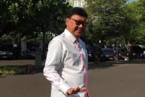 Mantan Menteri Dalam Negeri Tjahjo Kumolo menyambangi Istana Negara, Selasa (22/10).