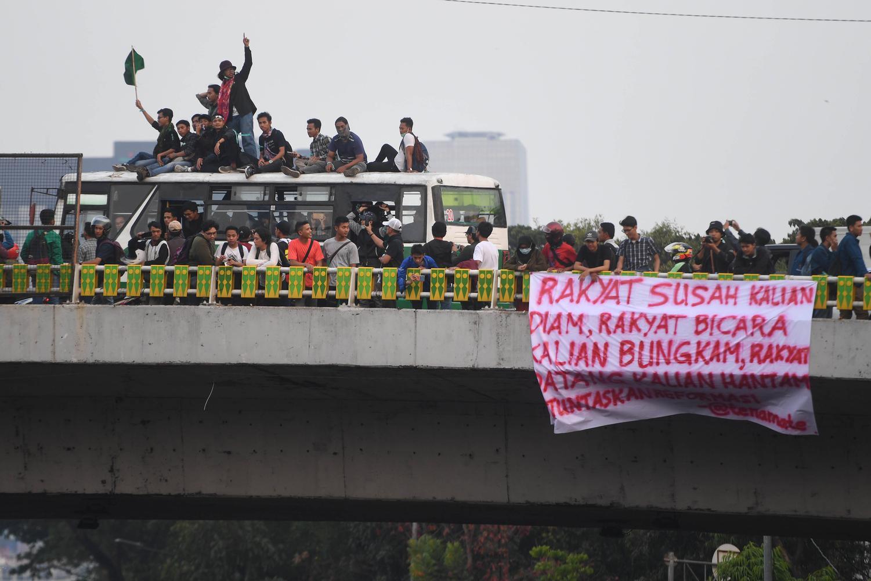 Unjuk Rasa Mahasiswa Di Jakarta