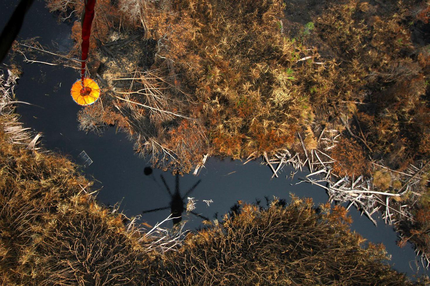 Pemadaman Karhutla Di Taman Nasional Sebangau