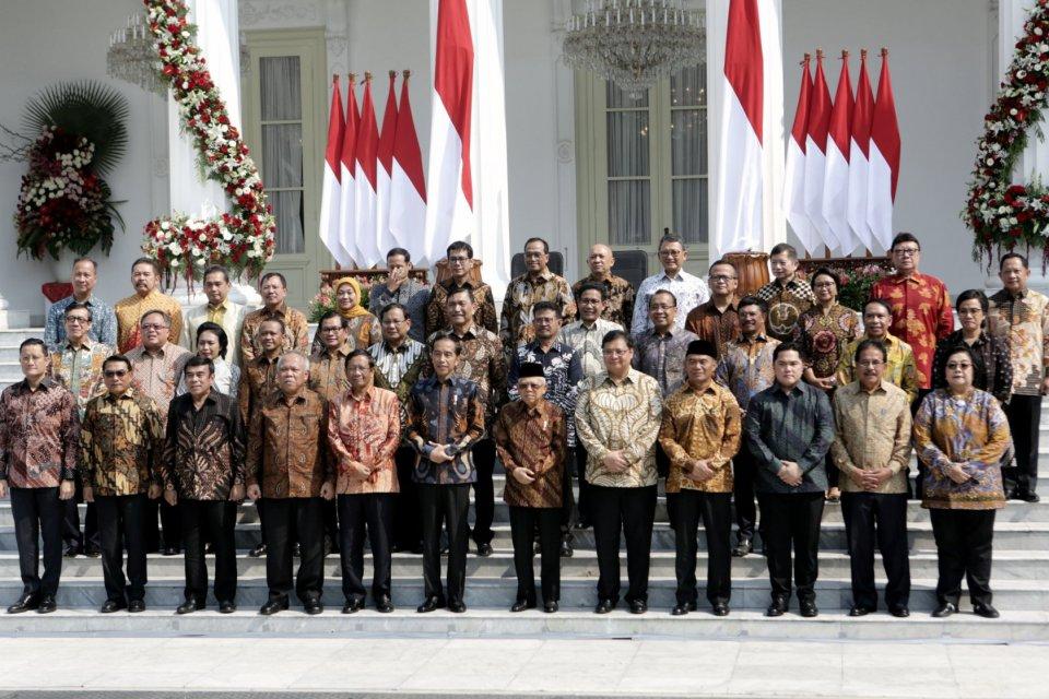 Ilustrasi kabinet Indonesia Maju. Seluruh parpol pengisi kabinet telah merespons ancaman reshuffle dari Jokowi.