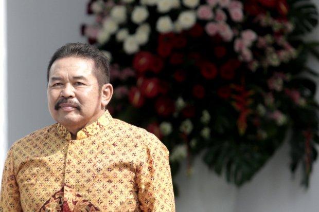 Jaksa Agung: ST Burhanuddindi halaman Istana Merdeka, Jakarta Puaat (23/10/2019). Hari ini presiden Joko Widodo mengumum para calon Menteri dan Pejabat Setingkat Menteri Periode Tahun 2019-2024.