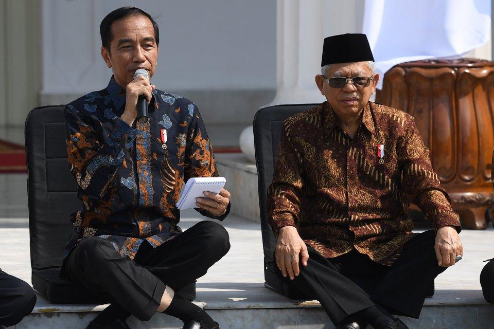 joko widodo, ma'ruf amin, kabinet indonesia maju