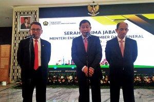 Serat Terima Jabatan Menteri Energi dan Sumber Daya Mineral (ESDM)