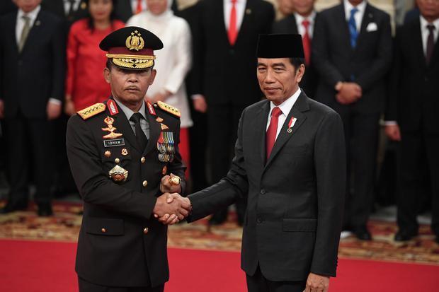 Jokowi, Novel Baswedan, kapolri