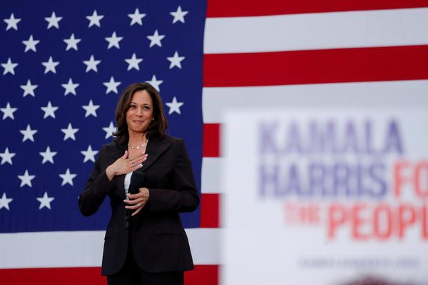 Kamala Harris dalam sebuah acara di Los Angeles, 19 Mei 2019. Ia akan mendampingi Joe Biden sebagai cawapres dalam Pemilu Amerika Serikat pada November 2020.