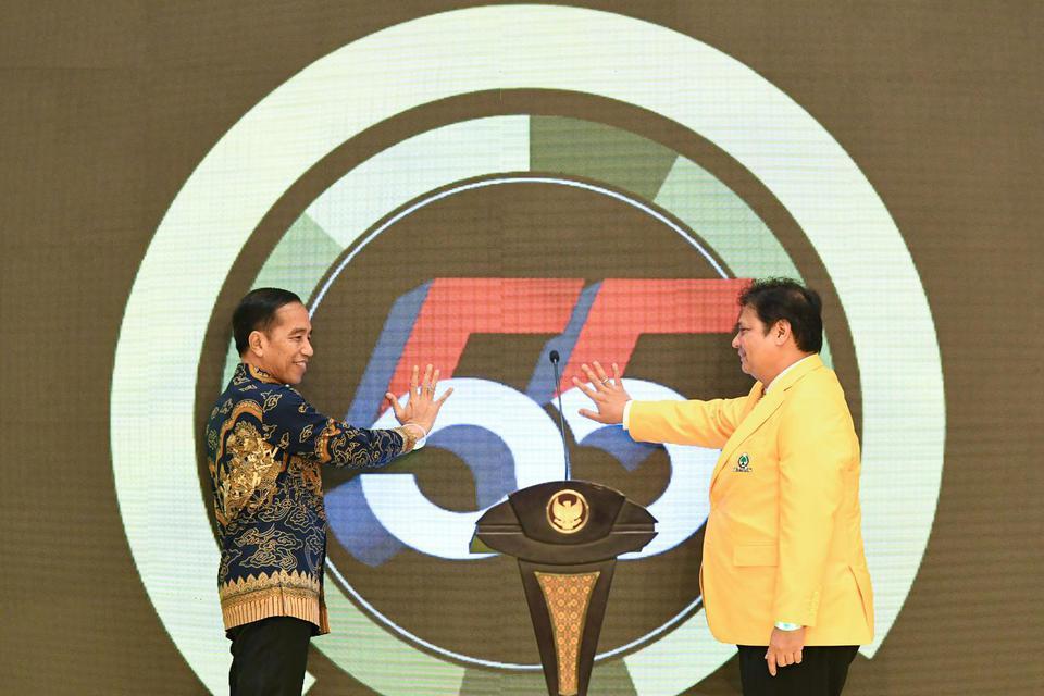 Caketum Golkar, calon ketua umum Golkar, Jokowi, Airlangga Hartanto