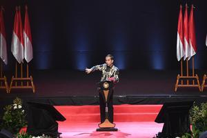 PRESIDEN HADIRI RAKORNAS INDONESIA MAJU