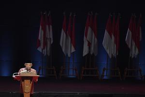 WAPRES MENUTUP RAKORNAS INDONESIA MAJU
