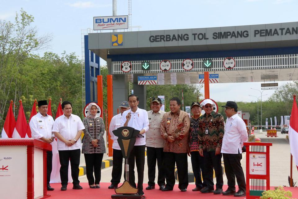 Jokowi resmikan tol, Tol Terpanjang, Tol Trans Sumatera