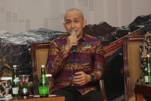 Direktur Eksekutif APBI Hendra Sinadia memberikan paparan dalam acara Katadata Forum mengenai \