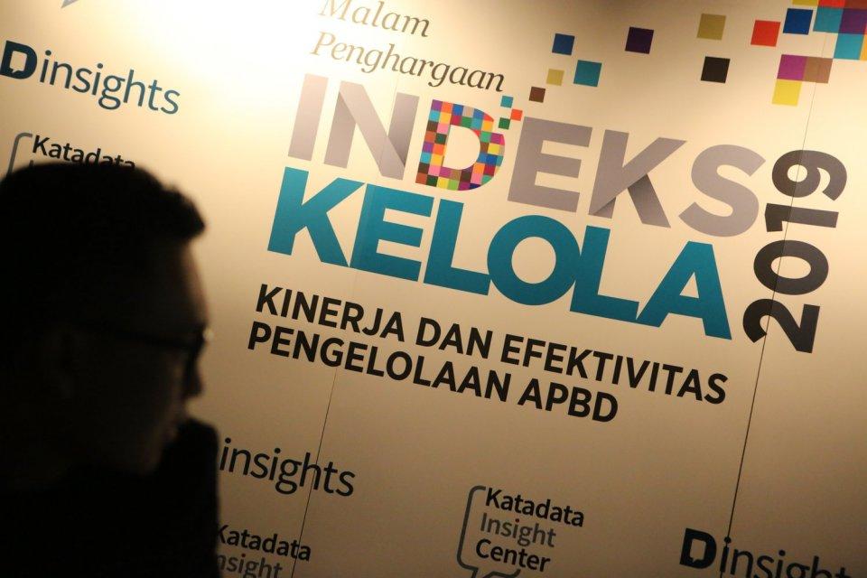 Suasana Malam Penghargaan Indeks Kelola 2019, dengan tema Kinerja dan Efektivitas Pengelolaan APBD, Jakarta, Kamis, (28/11/2019). Hasil riset Katadata Insight Center menyebut ada empat kabupaten yang mampu mengelola APBD untuk meningkatkan pendidikan dan