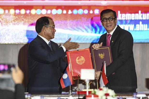 Menteri Hukum dan HAM, menkumham, Yasonna laoly, kerja sama hukum laos, tindak pidana narkotika