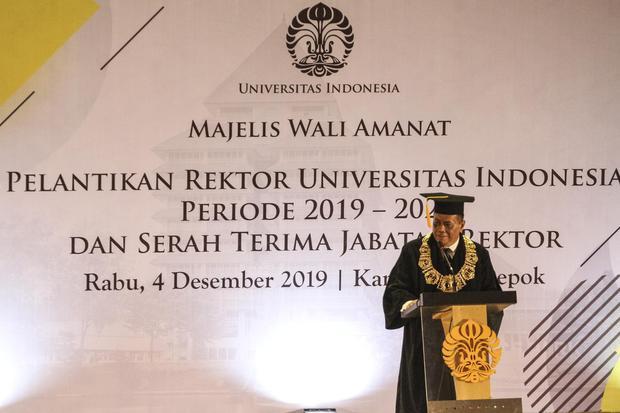 PELANTIKAN REKTOR UNIVERSITAS INDONESIA