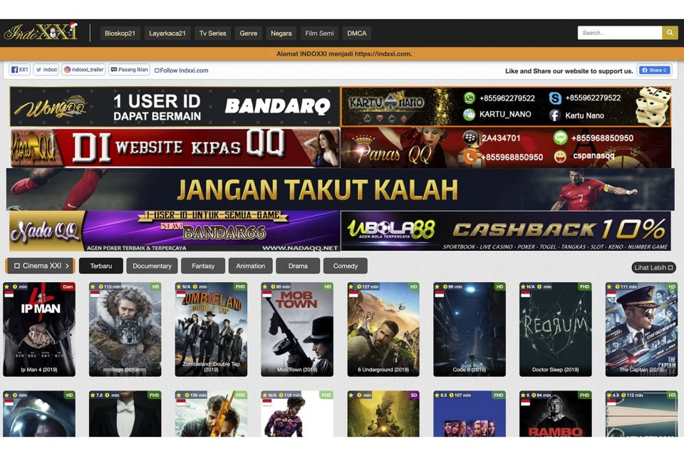 indoxxi, streaming film, kominfo, indoxxi ditutup