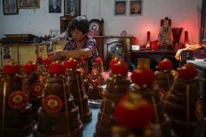 Produksi kue keranjang di Yogyakarta