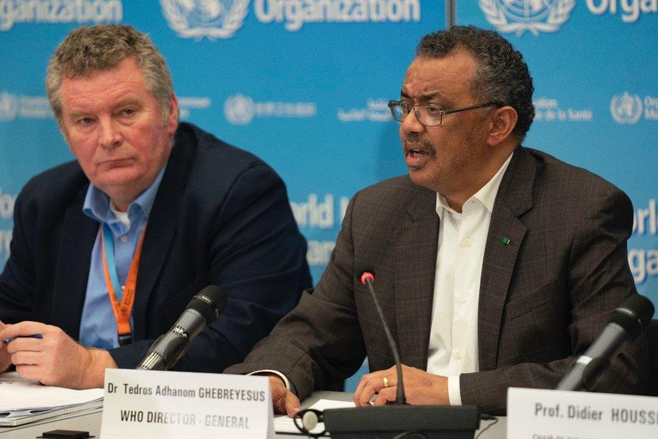 Direktur Jenderal WHO, Tedros Adhanom Ghebreyesus, mengumumkan penetapan darurat kesehatan global atas wabah virus corona, di Jenewa, Swiss, Kamis (30/1).