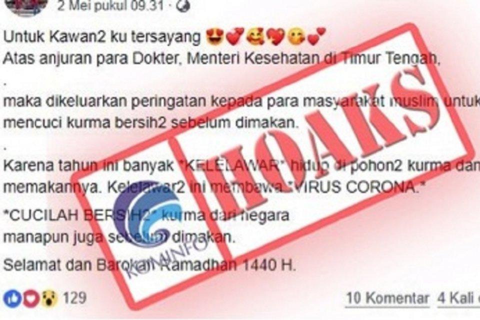 Dua Warga Depok Terinfeksi Virus Corona Kominfo Temukan 147 Hoaks