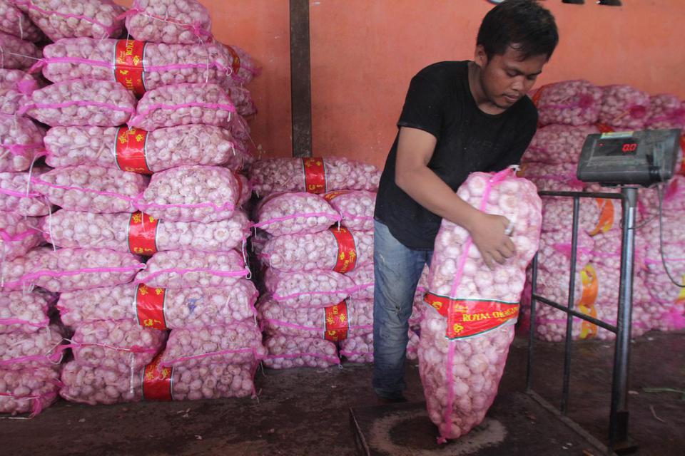 kementerian pertanian, impor, bawang putih