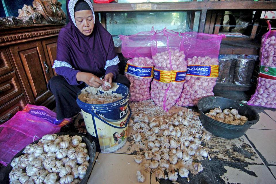 impor bawang putih, virus corona, ikatan pedagang pasar, tiongkok
