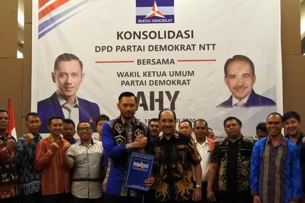 AHY HADIRI KONSOLIDASI PARTAI DEMOKRAT DI NTT
