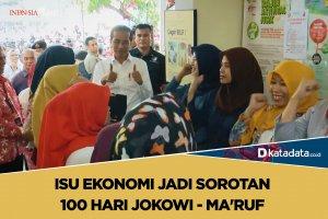 Isu Ekonomi Jadi Sorotan 100 Hari Jokowi - Ma'ruf