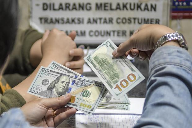rupiah, nilai tukar, dolar, evergrande