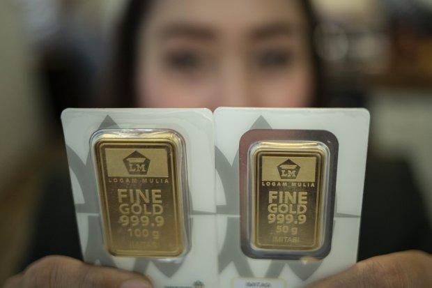 harga emas hari ini, harga emas antam, harga emas cetak rekor, pandemi corona, covid-19