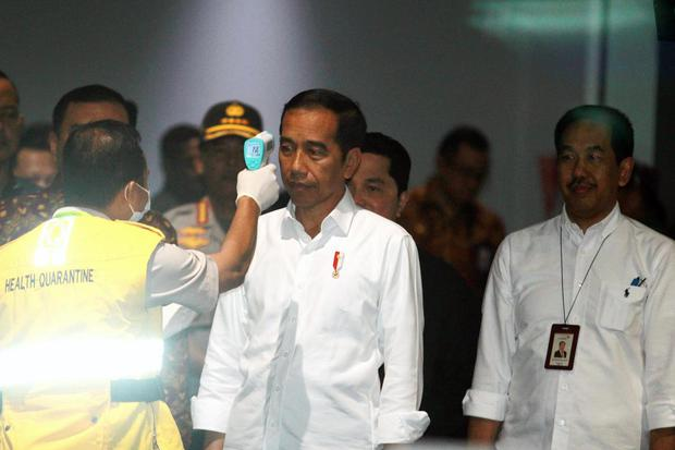 virus corona, lockdown, jokowi