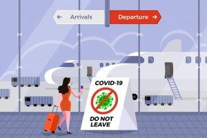 Penutupan penerbangan akibat corona