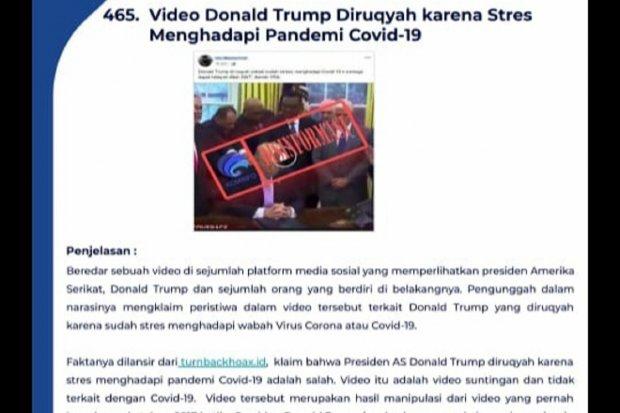 Hoaks Corona Capai 466: Pekerja Tiongkok di Ancol hingga Rukiah Trump