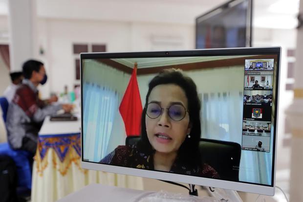 Ilustrasi, Menteri Keuangan Sri Mulyani Indrawati. Sri Mulyani mengingatkan agar perbankan syariah mewaspadai risiko kenaikan NPF akibat pandemi corona.