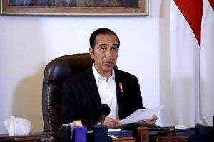 Presiden Joko Widodo saat membuka rapat terbatas di Istana Bogor, Selasa (21/4). Jokowi resmi melarang masyarakat mudik lebaran tahun ini