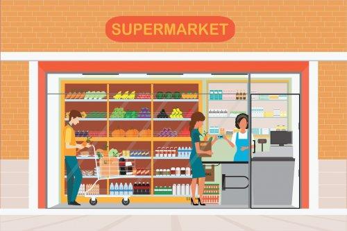 Telaah - bisnis supermarket