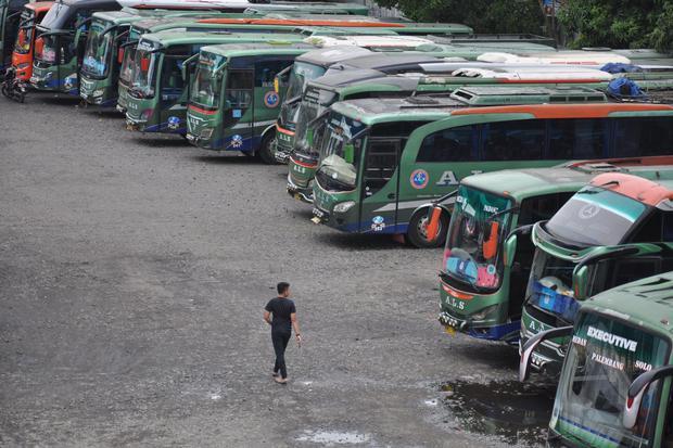 perusahaan bus, larangan mudik, jasa kirim barang, virus corona, covid 19