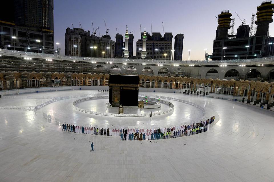 Ganoo Essa/File Photo AWW ARSIP FOTO: Pemerintah Arab Saudi menetapkan Idul Fitri pada 24 Mei 2020.