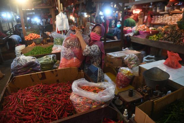 BPS, harga pangan, lebaran, ramadan, inflasi, daya beli lesu