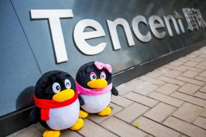 Penguin merupakan logo perusahaan teknologi asal Tiongkok Tencent.