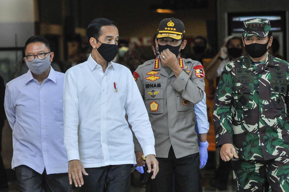 Jokowi Beri Tenggat Jawa Timur selama 2 Pekan Turunkan Kasus Corona.