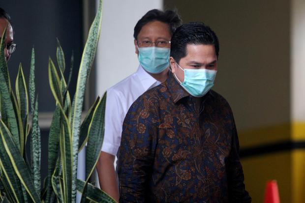 Menteri Badan Usaha Milik Negara (BUMN) Erick Thohir. Erick Thohir merombak jajaran direksi Perusahaan Umum Perikanan Indonesia (Perum Perindo).