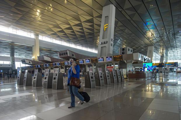 pesawat, jumlah penumpang, BPS, PSBB