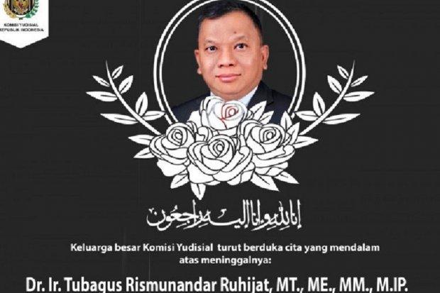 Sekjen KY Tubagus Rismunandar meninggal dunia pada Kamis (17/7).