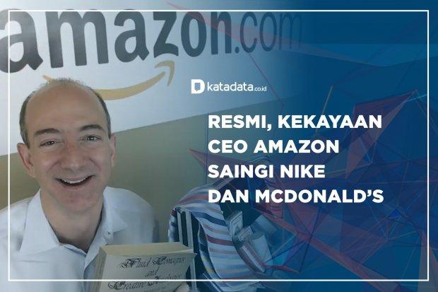 Resmi, Kekayaan CEO Amazon Saingi Nike dan McDonald's