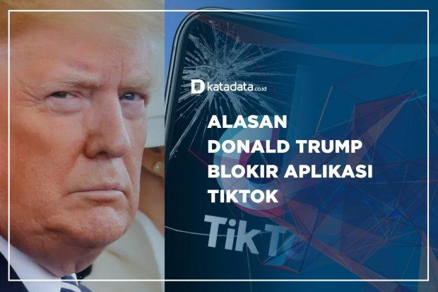 Alasan Donald Trump Blokir Apikasi Tiktok
