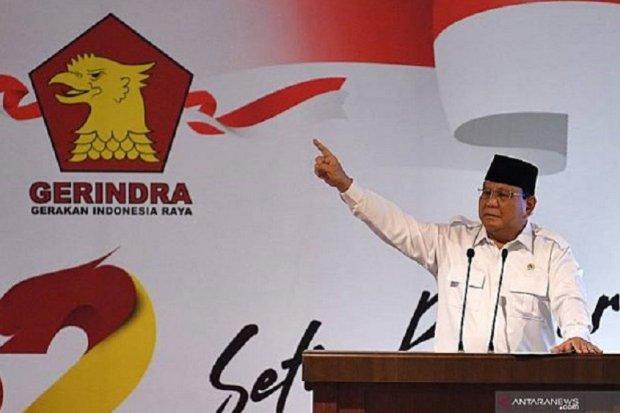 Prabowo Subainto saat memimpin KLB Partai gerindra hari Sabtu (8/8).